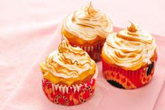Cupcakes with whipped cream Royalty Free Stock Photo