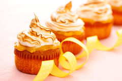 Cupcakes with whipped cream Royalty Free Stock Images