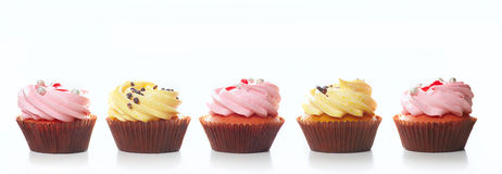 Cupcakes on the white a Royalty Free Stock Images