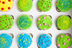 Cupcakes in a white box Royalty Free Stock Image