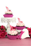 Cupcakes With High Heel Stiletto Fondant Shoes Royalty Free Stock Photography