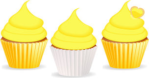 Cupcakes yellow Stock Photo