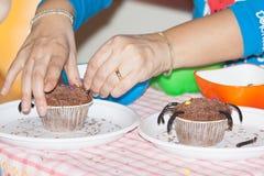 Cupcakesdecoratie stock foto