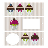 Cupcakesmarkeringen Royalty-vrije Stock Foto