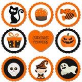 Cupcaketoppers voor Halloween vector illustratie
