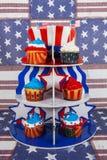 Cupcaketribune Royalty-vrije Stock Afbeelding