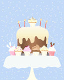 Cupcakeverjaardag Royalty-vrije Stock Fotografie