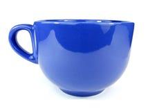 Cupe azul de la taza foto de archivo libre de regalías