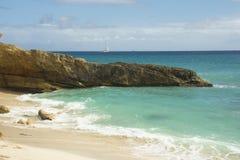 Cupecoy последовательность малых пляжей, St Martin, карибское Стоковые Изображения