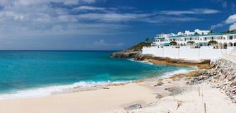 Cupecoy beach on St Martin Caribbean Stock Photos
