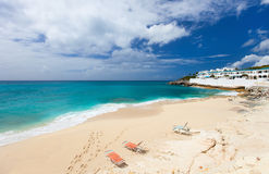 Cupecoy beach on St Martin Caribbean Stock Images