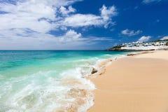 Cupecoy beach on St Martin Caribbean Stock Image