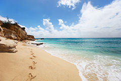 Cupecoy Beach on St Martin Caribbean Stock Photography