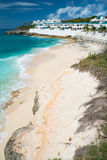 Cupecoy plaża na St Martin Karaiby fotografia royalty free
