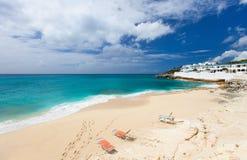 Cupecoy plaża na St Martin Karaiby obrazy stock