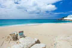 Cupecoy plaża na St Martin Karaiby obraz stock