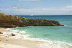 Cupecoy is a succession of small beaches, St. Martin, Caribbean Stock Images
