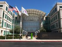 CUPERTINO, CA - AUGUST 28, 2015: close up view of apple inc headquarters in cupertino. California stock images
