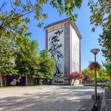 Cupertino de Miranda Foundation Building in Queen Dona Maria II Square. Royalty Free Stock Images