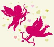 cupid βαλεντίνος σκιαγραφιώ&nu απεικόνιση αποθεμάτων