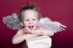 cupid γελώντας Στοκ Φωτογραφίες