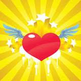 cupid καρδιά Διανυσματική απεικόνιση