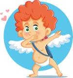 Cupid που κτυπά τη διανυσματική απεικόνιση κινούμενων σχεδίων ελεύθερη απεικόνιση δικαιώματος