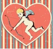 Cupid στην κατασκευασμένη ανασκόπηση. Στοκ Φωτογραφίες