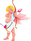 Cupid. Vector illustration of a cupid with a bow and wings Stock Photo