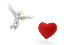 Cupid. Love, valentine day series; 3d isolated characters Stock Images