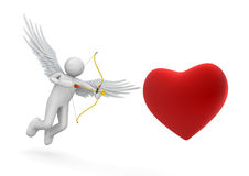 Cupid. Love, valentine day series; 3d isolated characters Royalty Free Stock Image