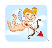 Cupid. With bow and arrow, vector format avalible Royalty Free Stock Photography
