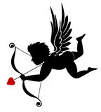 Cupid. An illustration of cupid with bow and arrow isolated in white. An additional Vector .Eps file available. ( you can use elements separately