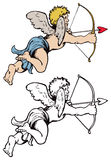 Cupid Valentines Day. An illustration of a cupid angel with bow and arrow for Valentines Day Royalty Free Stock Photography