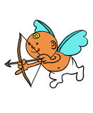 Cupid. A drawing of cupid aiming his arrows Royalty Free Illustration