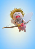 Cupid. Valentine's Day baby angel Royalty Free Stock Images