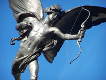 Cupid. On his stand in central London stock photo