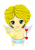 Cupid. The Cute cupid in blue pant with The heart arrow Royalty Free Stock Photo