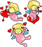 Cupid. Vector illustration of cupids clip art Stock Photography