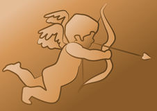 Cupid. Abstract vector illustration of cupid aiming his arrows Royalty Free Stock Image
