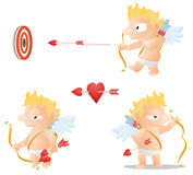 Cupid Actions Royalty Free Stock Photography