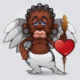 Cupid africano Immagini Stock Libere da Diritti