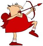 Cupid aiming his arrow Royalty Free Stock Photo