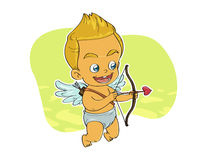 Cupid aiming target. Celebrating Valentine's day Stock Photos