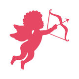 cupid angel with arch silhouette  isolated icon design Stock Photography