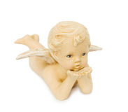 Cupid angel blowing kisses Stock Photo