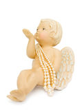 Cupid angel blowing kisses Stock Photos