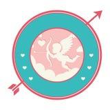 Cupid angel love card Royalty Free Stock Image