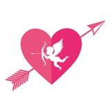 Cupid angel love card Royalty Free Stock Photo