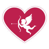 Cupid angel love card Stock Photography